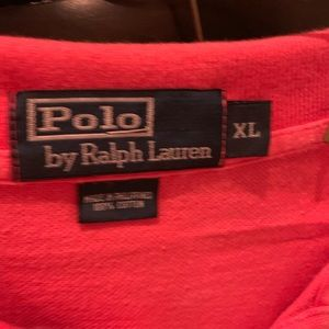 Ralph Lauren 4 Pique cotton polo shirts GUC XL